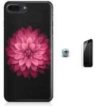 Kit Capa iPhone 7 Plus - Flores Arte + Pel Vidro (BD53) - Bd cases