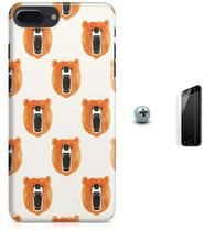 Kit Capa iPhone 7 Plus - Urso + Pel Vidro B52 - Bd cases