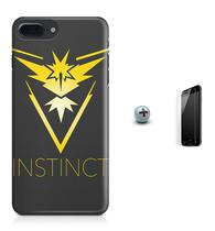 Kit Capa iPhone 8 Plus - Pokemon Instinct + Pel Vidro BD1 - Bd cases
