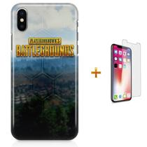 Kit Capa iPhone X - Battlegrounds PUBG + Pel Vidro B30 - Bd cases
