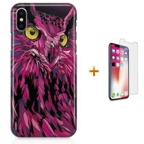 Kit Capa iPhone X - Coruja Owl + Pel Vidro B30 - Bd cases