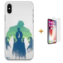 Kit Capa iPhone X - Hulk Vingadores + Pel Vidro B30 - Bd cases