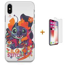 Kit Capa iPhone X - Lilo Stitch + Pel Vidro B30 - Bd cases