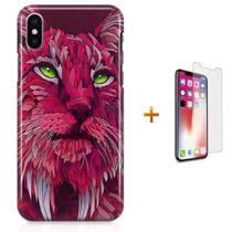 Kit Capa iPhone X - Lince Lynx + Pel Vidro B30 - Bd cases
