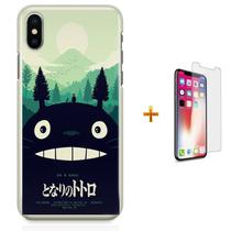 Kit Capa iPhone X - Meu Amigo Totoro + Pel Vidro B30 - Bd cases