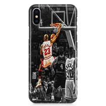 Kit Capa iPhone X - Michael Jordan + Pel Vidro BD1 - Bd cases