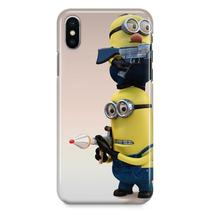 Kit Capa iPhone X - Minions + Pel Vidro BD1 - Bd cases