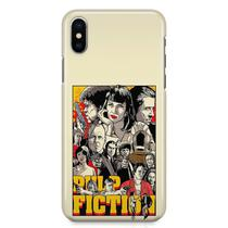 Kit Capa iPhone X - Pulp Fiction + Pel Vidro BD1 - Bd cases