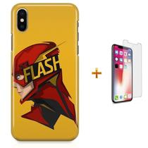 Kit Capa iPhone X - The Flash  Barry Allen + Pel Vidro B30 - Bd cases