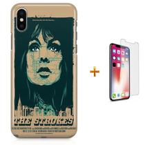 Kit Capa iPhone X - The Strokes + Pel Vidro B30 - Bd cases