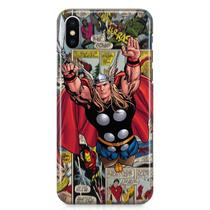 Kit Capa iPhone X - Thor Vingadores Avengers + Pel Vidro BD1 - Bd cases