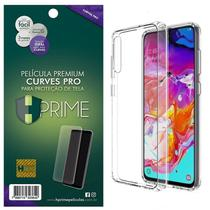 Kit Capa Lift Crystal Hybrid + Película Curves Pro HPrime para Samsung Galaxy A70 - Hprime / Lift Cases