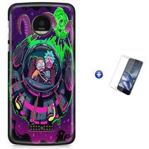 Kit Capa   Moto Z2 Play  Rick And Morty + Pel  (BD01) - Bd Cases