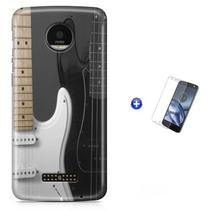Kit Capa   Moto Z2 Play  Rock and Roll + Pel  (BD01) - Bd Cases