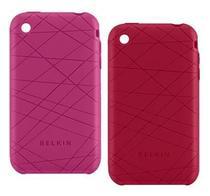 Kit capa para iPhone 3G - Belkin Vector Duo Rosa e Vermelho - F8Z472-045-2 -