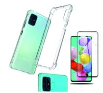 Kit Capa+ Pel. Vidro 3D + Pel. Vidro Lente Câmera Galaxy A71 - Renew