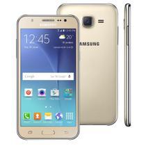 Kit Capa (+Película Vidro) Para Samsung Galaxy J5 / Duos J500 Em Silicone Tpu - Transparente - Maston