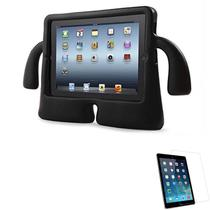 """Kit Capa Protetor Infantil """"Mãozinha""""para iPad 7 geração 10,2"""" + Película de Vidro (Preto) - Global Cases"""