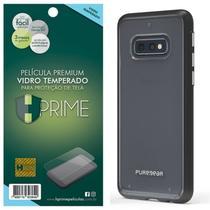 Kit Capa Puregear Slim Shell Black + Película HPrime Vidro Temperado  Galaxy S10e 5.8 - Hprime / Puregear