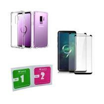 Kit Capa Reforçada Galaxy S9 Plus + 2 Pel. Vidro Cola Tudo - Yellow Cell