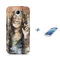 Kit Capa S4 Mini Janis Joplin +Pel.VidrBD1 - Bd cases