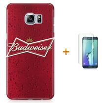 Kit Capa S6 Budweiser Beer + Pel Vidro (BD30) - Bd cases