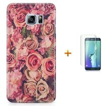 Kit Capa S6 Edge Flores Flowers + Pel Vidro (BD30) - Bd cases