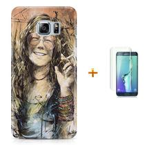 Kit Capa S6 Edge Janis Joplin +Pel.VidrBD1 - Bd cases
