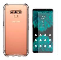 Kit Capa Samsung Galaxy Note 9 Rígida Anti Impacto + Película 3D - Transparente Com Bordas Antishock - Atouchbo