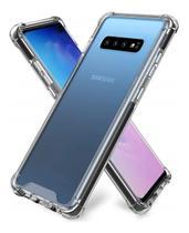 Kit Capa Samsung Galaxy S10 Plus Rígida Anti Impacto + Película 3D - Transparente Com Bordas Antishock - Atouchbo