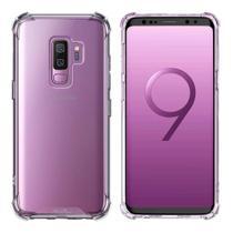 Kit Capa Samsung Galaxy S9 Plus Rígida Anti Impacto + Película 3D - Transparente Com Bordas Antishock - Atouchbo