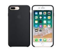 Kit Capa Silicone Cover Iphone 7Plus / 8 Plus Preto + Película 3D - M3 Imports