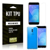 Kit Capa Silicone Meizu M6 Note Capa de Silicone + Película de Vidro - Armyshield -