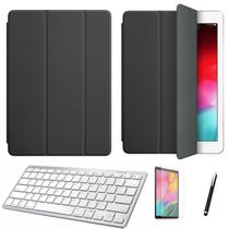Kit Capa Smart Case Galaxy Tab S6 T860/T865 10.5 /Can/Pel e Teclado Branco - Preto - Skin Zabom