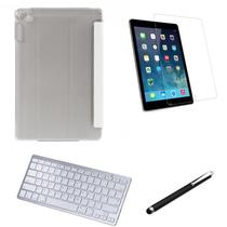 Kit Capa Smart Case iPad 7a Geração 10.2 /Can/Pel e Teclado Branco - Nude - Global Cases