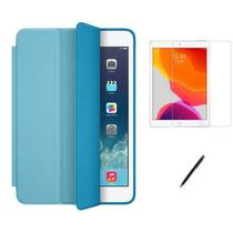 Kit Capa Smart Case iPad 8a Geração 10.2 /Can/Pel - Azul Claro - Global Cases