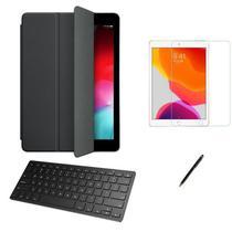 Kit Capa Smart Case iPad 8a Geração 10.2 /Can/Pel e Teclado - Preto - Global Cases