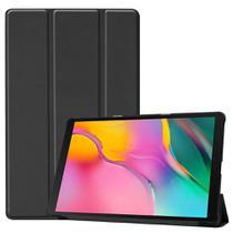 Kit Capa Smart Tablet Galaxy Tab A7 T500 T505 Tela 10.4 Aveludada High Premium Case Preta + Pelicula - Extreme Cover