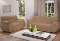 Kit capa sofa 2/3 lugares 21 elásticos varias cores - Arte Cazza