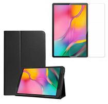 Kit Capa Tablet Samsung Galaxy Tab A 10.1 T510 Pasta Magnética + Película de Vidro - Fam