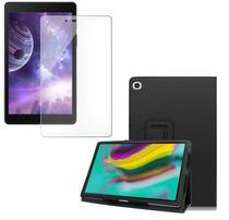 Kit Capa Tablet Samsung Galaxy Tab A 8 T290 T295 Pasta Magnética + Película de Vidro - Lucky