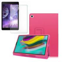 Kit Capa Tablet Samsung Galaxy Tab A 8 T290 T295 T297 Magnética Rosa + Película de Vidro - Fam