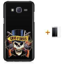 Kit Capa TPU Galaxy J7 2016 Guns n' Roses + Pel Vidro (BD02) - Bd Cases