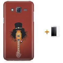 Kit Capa TPU Galaxy J7 2016 Slash Guns n' Roses + Pel Vidro (BD01) - Bd Cases