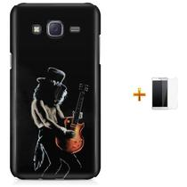 Kit Capa TPU Galaxy J7 2016 Slash Guns n' Roses + Pel Vidro (BD02) - Bd Cases