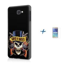 Kit Capa TPU Galaxy J7 Prime Guns n' Roses + Pel Vidro (BD02) - Bd Cases