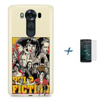 Kit Capa TPU LG V10 Pulp Fiction + Pel Vidro (BD01) - Skin t18