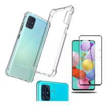 Kit Capa TPU Transp. Galaxy A51 + Pel. Vidro 3D + Pel. Câmera - Renew