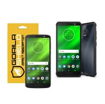 Kit capa ultra slim air e película de vidro dupla para moto g6 plus - gorila shield