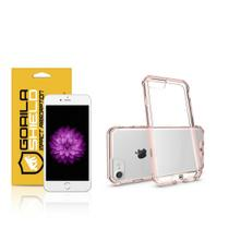 Kit Capa Ultra Slim Air Rosa e Película de vidro dupla para Iphone 6s plus  Gorila Shield